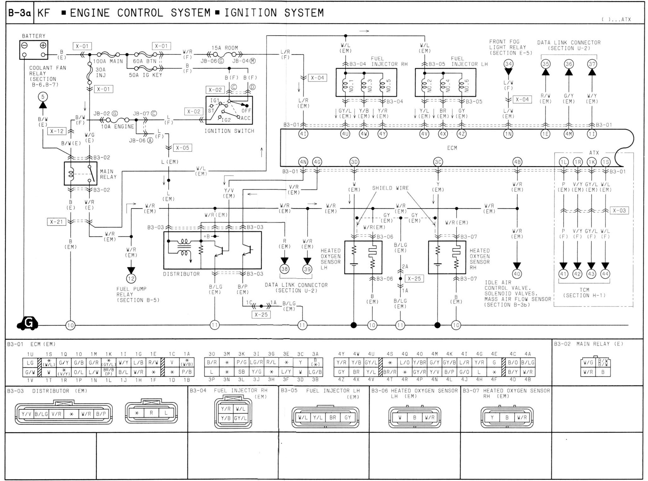 B 3a_KF_ECS the 2002 ford escape v6 wiring diagram for the charging system 05 mazda 3 alt plug wiring diagram at fashall.co