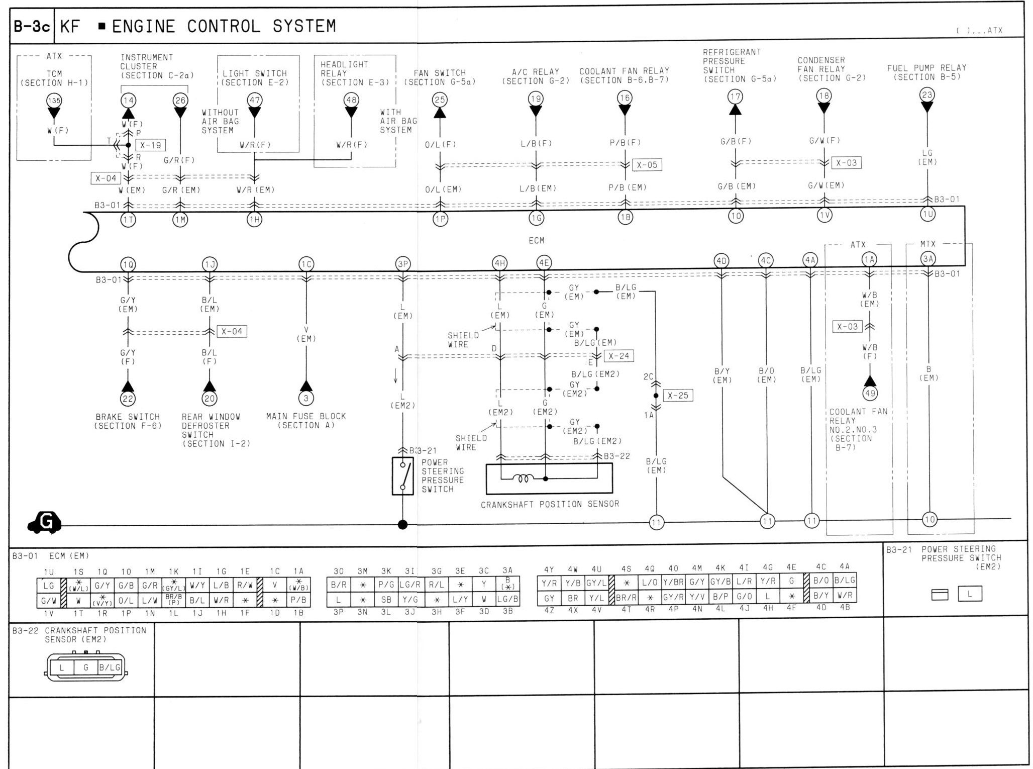lantis 2 0 v6 wiring diagram needed astinagt forums rh astinagt com Mazda 323 Relay Diagram Mazda 626 Engine Diagram